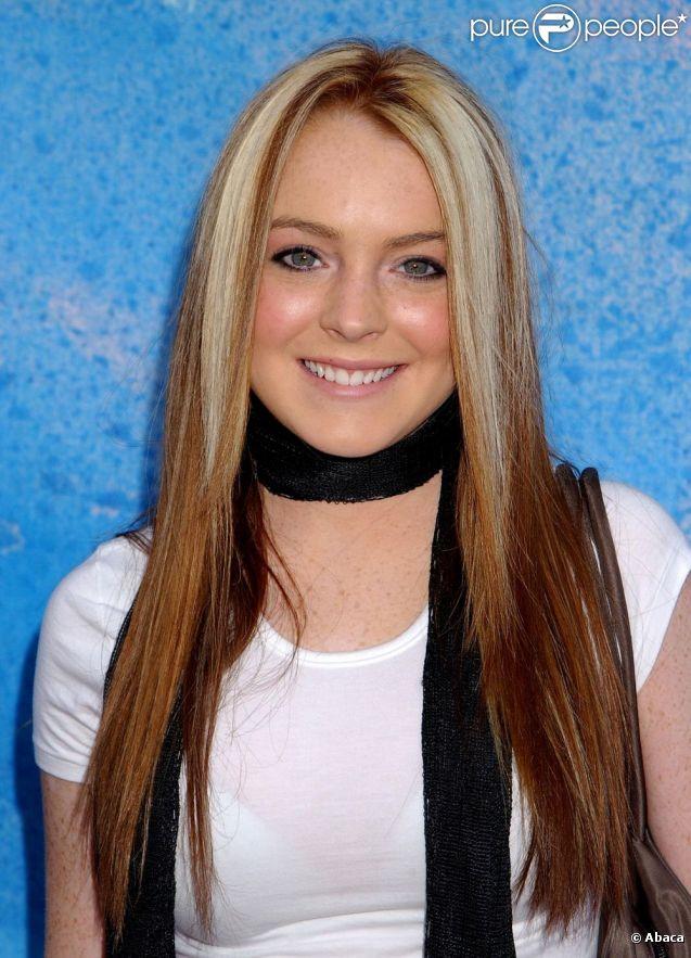 Lindsay Lohan, 16 à l'époque, à Los Angeles en novembre 2002.