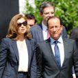 Valérie Trierweiler et François Hollande à Washington le 18 mai 2012.