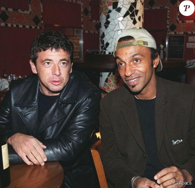 Patrick Bruel et Manu Katché à Paris, novembre 2001.