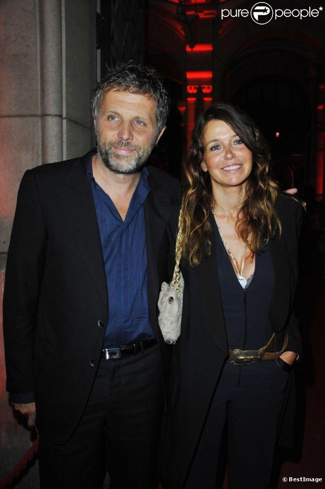 Stéphane Guillon et sa femme Muriel Cousin en août 2011 à Paris
