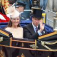 Le prince William et Kate Middleton, duc et duchesse de Cambridge, le 5 juin 2012 au dernier jour du week-end central du jubilé de diamant de la reine Elizabeth II.