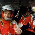 Mathieu Valbuena découvre les joies d'être copilote au côté de Philippe Bugalski dans une Citroën DS3 WRC avant l'Euro