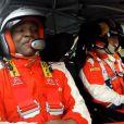 Steve Mandanda découvre les joies d'être copilote au côté de Philippe Bugalski dans une Citroën DS3 WRC avant l'Euro