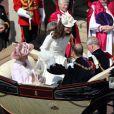 Kate Middleton lors de la cérémonie de l'Ordre de la Jarretière se déroulant du château Windsor à la chapelle Saint Georges, le 18 juin 2012
