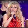 Amandine Bourgeois à Carcassonne pour la Fête de la musique, sur France 2