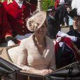 Le prince Edward et la comtesse Sophie de Wessex lors de la procession de l'ordre de la jarretière le 18 juin 2012.