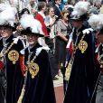 Le prince Edward lors de la procession de l'ordre de la jarretière le 18 juin 2012.