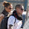 Jennifer Lopez, Casper Smart et les jumeaux quittent l'Argentine pour le Brésil, le 22 juin 2012.