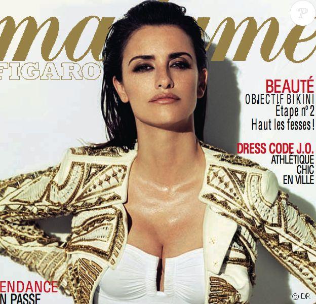 Penélope Cruz en couverture de Madame Figaro