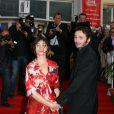 Emmanuelle Béart et son compagnon Michaël Cohen à Cabourg