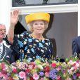 La reine Beatrix des Pays-Bas en visite dans la province de Fryslân le 6 juillet 2012.