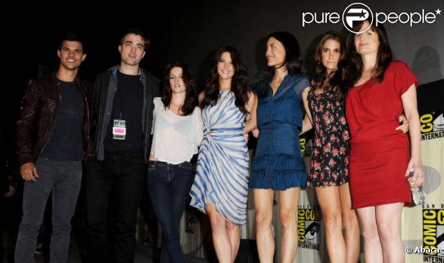 L'équipe du film Twilight lors du Comic-Con à San Diego en 2011