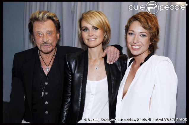 Photos exclusives, reproduction interdite : Johnny Hallyday a fêté ses 69 ans au Stade de France le 15 juin et donné 3 concerts les 15,16 et 17 Juin. Johnny, Laeticia et Laura