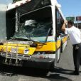 Accident d'un bus et d'un camion de la production du film The Heat, à Boston le 9 juillet 2012