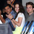 Kristen Stewart, Robert Pattinson et Taylor Lautner lors de la présentation durant le Comic-Con à San Diego de Twilight - chapitre 5 : Révélation (2ème partie) le 12 juillet 2012