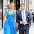 Blake Lively tourne quelques scènes de Gossip Girl avec Chace Crawford à New York. Le 17 juillet 2012