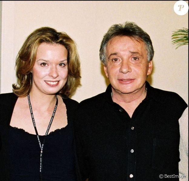 Michel Sardou et sa fille Cynthia en 2001