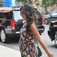 Camila Alves enceinte, à New York le 23 juillet 2012.