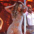 Jennifer Lopez en concert à Newark, le 21 juillet 2012.