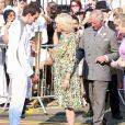 Le prince Charles et Camilla Parker Bowles à Tottenham le 26 juillet pour le passage du relais de la torche olympique.