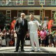 Rupert Grint avec la torche olympique le 25 juillet 2012
