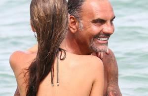 Christian Audigier rayonne d'amour pour Nathalie sous le soleil de St-Tropez