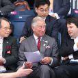 Le prince Charles suit le badminton, lors des JO de Londres, le 28 juillet 2012.