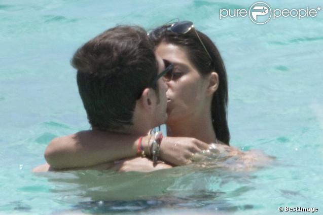 Iker Casillas et Sara Carbonero très amoureux, profitent de leur séjour aux Iles Vierges pour se retrouver en amoureux aux alentours du 22 juillet 2012
