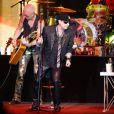 Le groupe Scorpions lors de leur performance au 64e Bal de la Croix-Rouge à Monaco le 3 août 2012