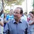 Première soirée au Fort de Brégançon pour François Hollande, le vendredi 3 août 2012.