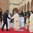 Le roi Mohammed VI du Maroc donnait à Rabat le 30 juillet 2012 une réception au palais royal, entouré de son fils et héritier le prince Moulay Hassan, de son frère le prince Moulay Rachid, et de son cousin le prince Moulay Ismail, à l'occasion du 13e anniversaire de son couronnement, parallèlement à la Fête du Trône.