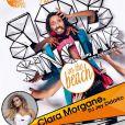 """Clara Morgane lors du concert """"ON THE BEACH"""" à Liège durant lequel elle s'est produite aux côtés du DJ Jey Didarko, son mari, et de ses danseurs Harmony et Fabso le 2 août 2012. Ils ont partagé l'affiche avec Bob Sinclar"""
