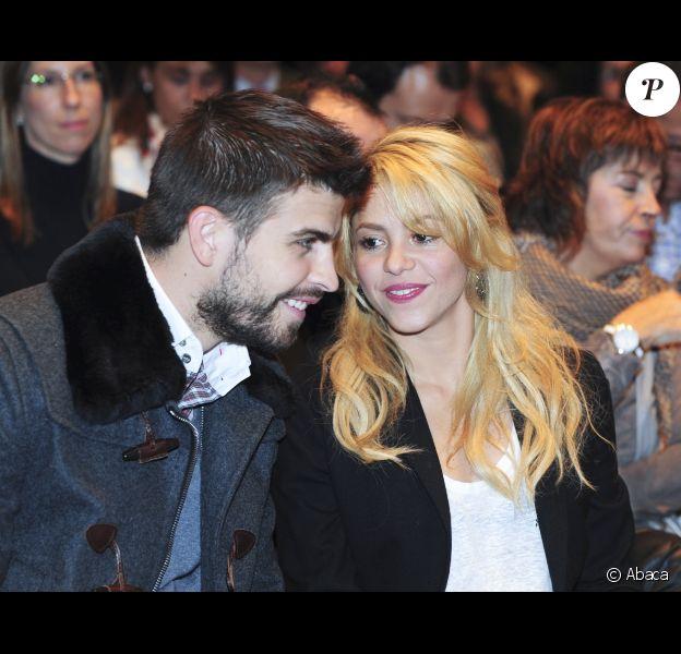 Shakira et Gerard Piqué le 17 novembre 2011 à Barcelone