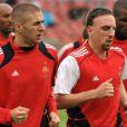 Karim Benzema et Franck Ribéry, à Zurich, en juin 2008.