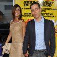 Les amoureux Elisabetta Canalis et Steve-O lors de l'avant-première du film Hit and Run à Los Angeles le 14 août 2012