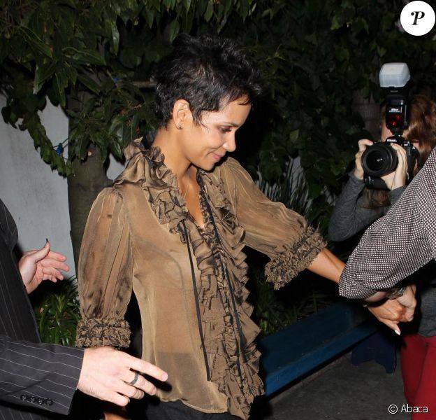 Halle Berry fête son anniversaire à Los Angeles le 14 août 2012