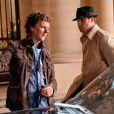 Michel Gondry et l'acteur Seth Rogen dans  The Green Hornet.