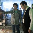 Michel Gondry et Seth Rogen dans  The Green Hornet.