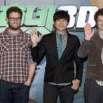 Seth rogen, Jay Chou et Michel Gondry en janvier 2011.