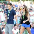 Liam du groupe One Direction avec sa petite amie Danielle assistent au V Festival, le samedi 18 août 2012.