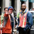 Tony Scott en 2008 avec Denzel Washington sur le tournage de L'Attaque du métro 123