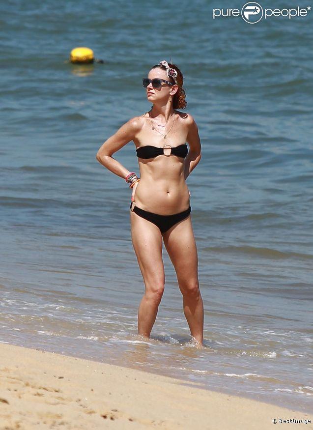 Juliette Lewis en vacances au Mexique, le 17 août 2012.