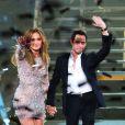Jennifer Lopez et son ex-mari Marc Anthony à Las Vegas, le 26 mai 2012.