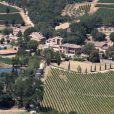 Vue aérienne du domaine de Miraval à Correns qui appartient à Angelina Jolie et Brad Pitt