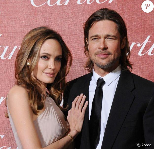 Angelina Jolie et Brad Pitt le 7 janvier 2012 à Palm Springs