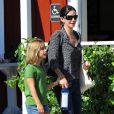 Courteney Cox et sa fille Coco Arquette font du shopping et ont déjeuné à Beverly Hills le 4 septembre 2012