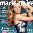 Blake Lively en couverture du magazine  Marie Claire , édition britannique, octobre 2012.