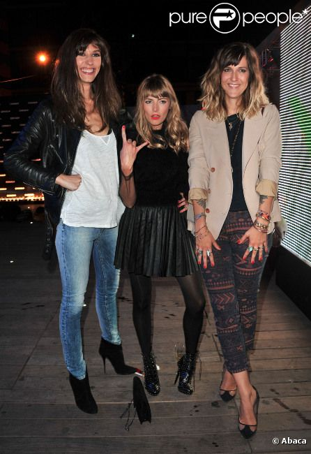 Doria Tillier, Aude Pépin et Daphné Bürki lors de la soirée Canal + à la Cité de la Mode et du Design à Paris le 6 septembre 2012