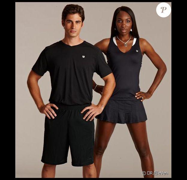 Venus Williams et Elio Alberto Pis posent pour la nouvelle collection de Venus Williams issue de sa marque EleVen