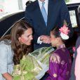Le prince William et son épouse Kate Middleton lors de leur arrivée en Malaisie le 13 septembre 2012 à Kuala Lumpur en Malaisie